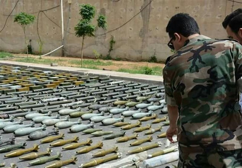 داعش کے خفیہ ٹھکانوں سے اسرائیلی اسلحہ برآمد + تصاویر
