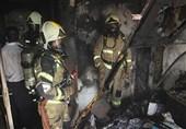 شعلهور شدن ساختمان 5 طبقه + فیلم و تصاویر