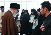 دیدار خانوادههای شهیدان مرادی و امامی با امام خامنهای
