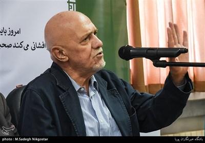 سیدمهدی طالقانی در مراسم رونمایی از نشان چهلمین سال پیروزی انقلاب