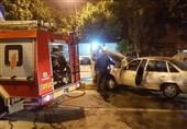 آتش گرفتن دوو سیلو پس از تصادف با جدول + تصاویر