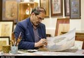 نقاشی جدید رضا بدرالسماء به مناسبت میلاد امام جواد(ع)+عکس