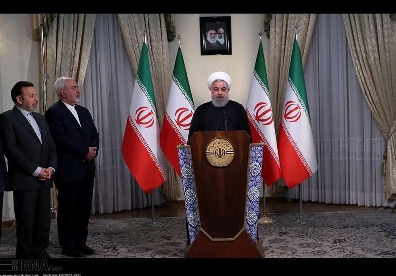 روحانی: الاتفاق النووی بقی منذ اللحظة مع 5 دول..امریکا لم تکن ملتزمة ابداً بتعهداتها