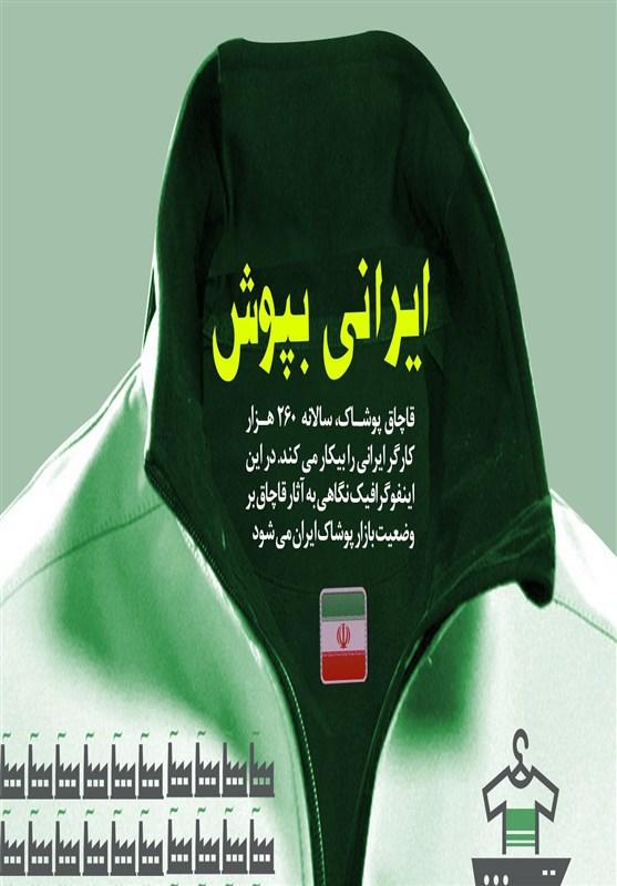 اینفوگرافیک/ ایرانی بپوش به خاطر ۲۶۰ هزار کارگر ایرانی