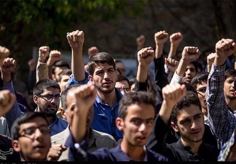 درخواست دانشجویان اهوازی از قوه قضائیه در اجتماع امروز + فیلم