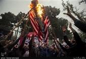 تجمع دانشجویان در محکومیت نقض برجام مقابل لانه جاسوسی