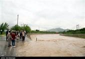 خرمآباد|بارش باران و جاری شدن سیلاب در خیابانهای خرمآباد + تصاویر