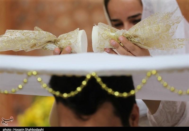 100 زوج کاشانی پیوند آسمانی خود را جشن گرفتند+ تصاویر