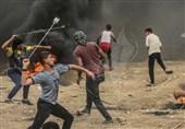 """توافد عشرات الآلاف من الفلسطینیین باتجاه مخیمات العودة للمشارکة فی جمعة """" النذیر"""""""