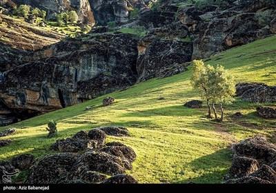 """ایران کے صوبہ خرم آباد کا سرسبز و شاداب علاقہ """"ہفت حوض"""""""
