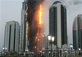 Firefighters Battle Blaze at High-Rise Tower in Dubai Marina