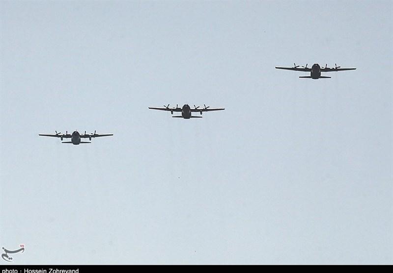 پرواز جمع 3 فروند هرکولس ارتش + عکس