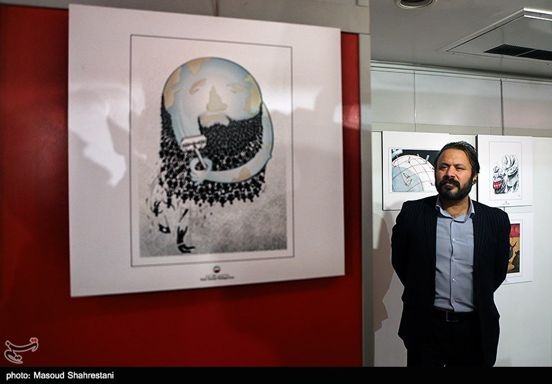 افتتاح نمایشگاه کاریکاتور و پوستر (پایان یک داعش)