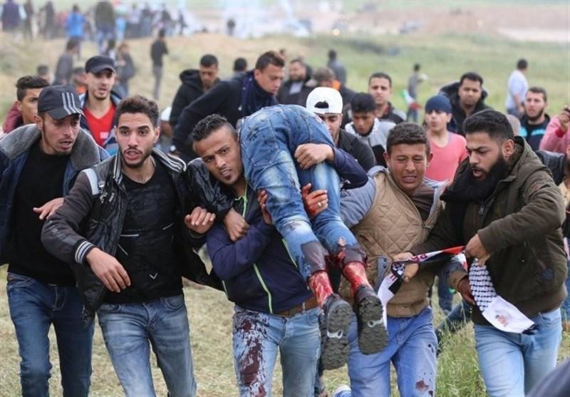 55شهیداً وأکثر من 2400 جریح فی اعتداءات الاحتلال على المشارکین فی مسیرة العودة