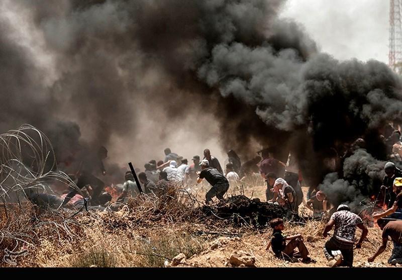 إصابة 109 فلسطینیین بالرصاص والاختناق خلال مسیرة العودة