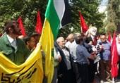 تجمع مردم و دانشجویان تهرانی در اعتراض به کشتار مردم غزه برگزار شد+ عکس