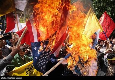 مظاهرات منددة بجرائم الاحتلال الصهیونی ضد غزة فی طهران