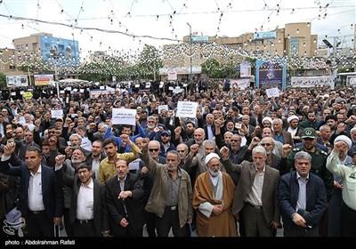 مظاهرات فی مدینة همدان الإیرانیة دعما للشعب الفلسطینی