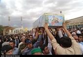 پیکر شهید نوریان در ساری تشییع شد