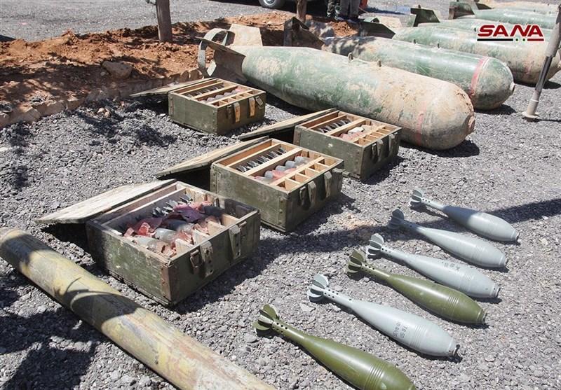 تحولات سوریه|آزادسازی 65 شهر و روستا در حمص و حماه؛ تسلیحات به جا مانده از تروریستها در قلمون شرقی+ تصاویر