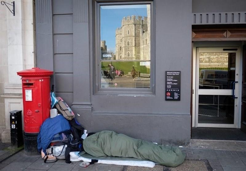 آوارگی سهم بیخانمانهای لندن از مراسم جشن عروسی نوه ملکه