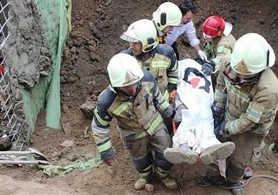 یک کشته و 2 زخمی بر اثر ریزش آوار در خیابان مجیدیه شمالی