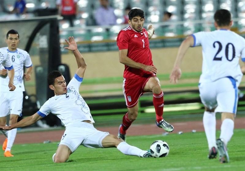 بدرقه تیم ملی ایران با پیروزی خفیف مقابل تیم جوان ازبکستان