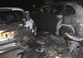 تصاویر/ حبس 40 نفر میان دود غلیظ برخواسته از آتشسوزی پورشه