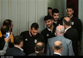 Iranian Officials See Off Members of Team Melli
