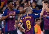 لالیگا  بارسلونا با پیروزی اینیستا را بدرقه کرد