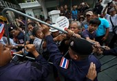 Thai Protesters Confront Police, Anti-Government March Blocked