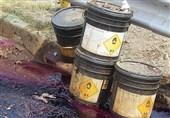 نشت مواد شیمیایی خطرناک پس از آتش گرفتن نیسان + تصاویر