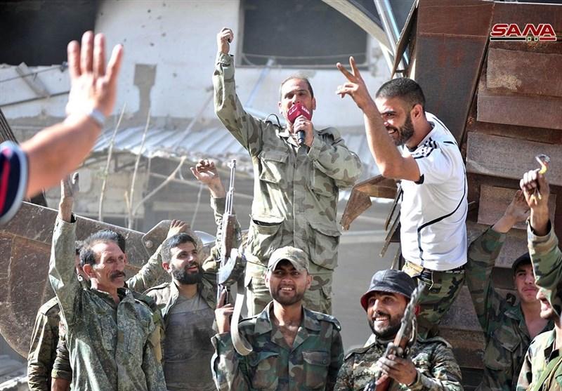 Syria Army, Police Celebrate Recapturing All of Damascus (+Photos)