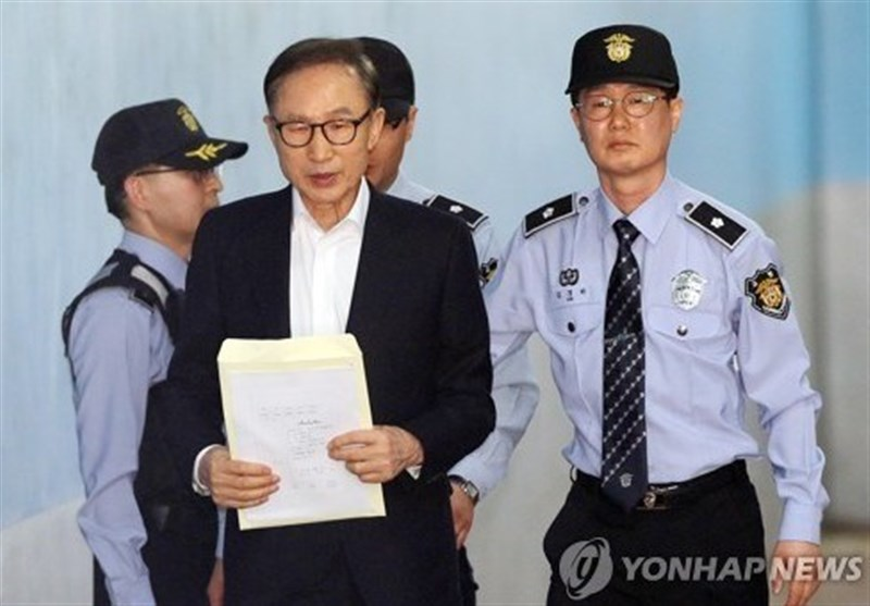 South Korea's Ex-President Lee Attends Corruption Trial