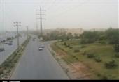 کرمان| افزایش غلظت ریزگردها در کرمان به روایت تصویر