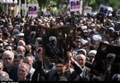 آذربایجان غربی| مراسم تشییع پیکر مجاهد نستوه آذربایجان در ارومیه به روایت تصویر