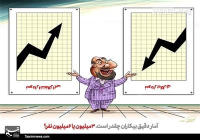 کاریکاتور/ آمار ضد و نقیض مسئولان از بیکاری!
