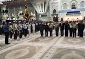 حضور جمعی از فرماندهان نیروهای مسلح در حرم امام(ره)