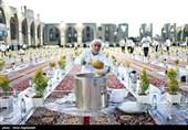 مشہد مقدس؛ حرم امام رؤوف میں افطار کا دسترخوان