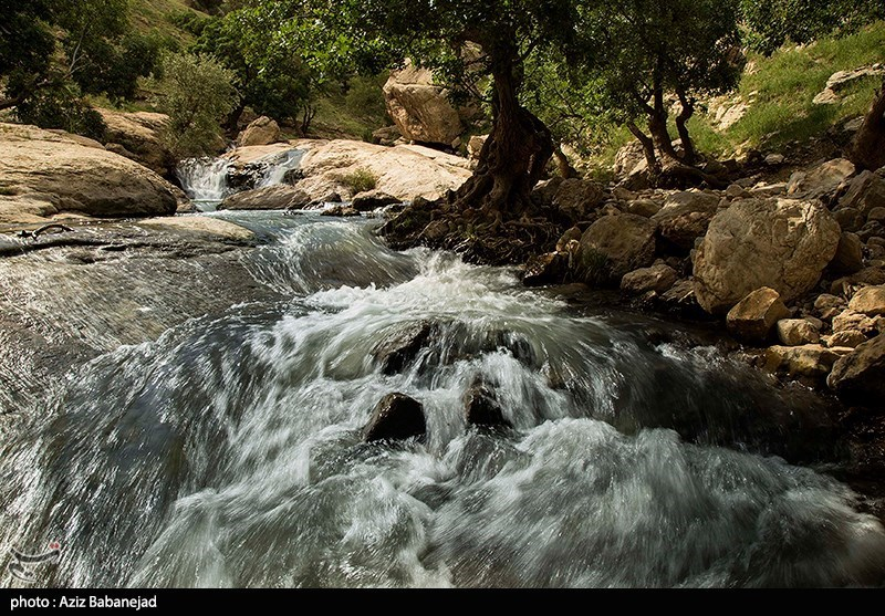 The Seven Springs : A Waterfall in Iran's Khorramabad