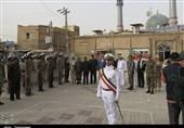 خوزستان  صبحگاه نیروهای دریایی مقابل مسجد جامع خاطرهانگیز خرمشهر+تصاویر