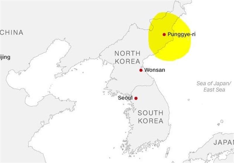 فیلم | لحظه انفجار سایت آزمایش هستهای کره شمالی
