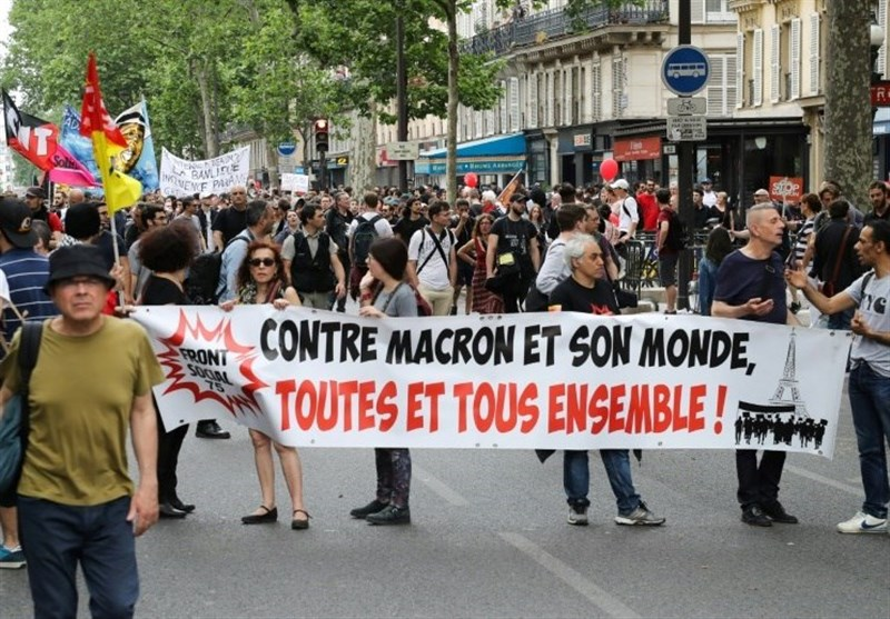 "المظاهرات مستمرة فی فرنسا ضدَّ ""إصلاحات"" ماکرون"