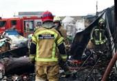 آتشسوزی گسترده مجتمع کارگاهی در جاده ساوه