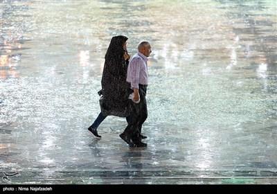 بارش باران در حرم امام رضا (ع)