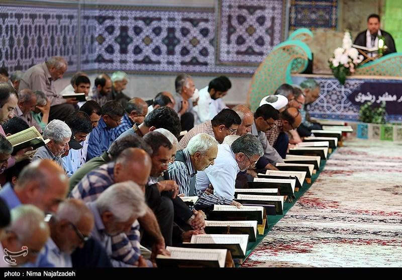 محفل قرآنی بزرگداشت شهدای منا در حرم رضوی برگزار شد