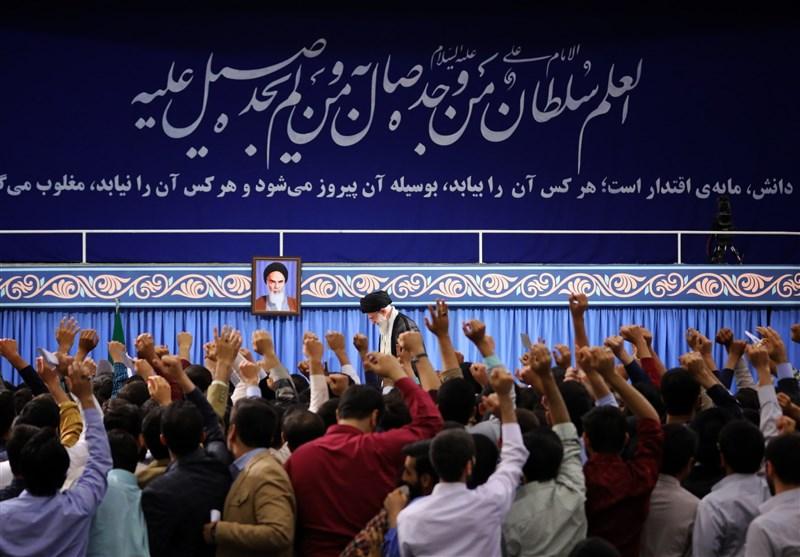 دیدار دانشجویان با امام خامنه ای| حسینی: نظام انتخاباتی باید اصلاح شود