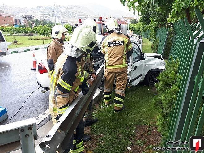 عکس تصادف حوادث تهران تصادف تیبا اخبار تهران اخبار تصادف