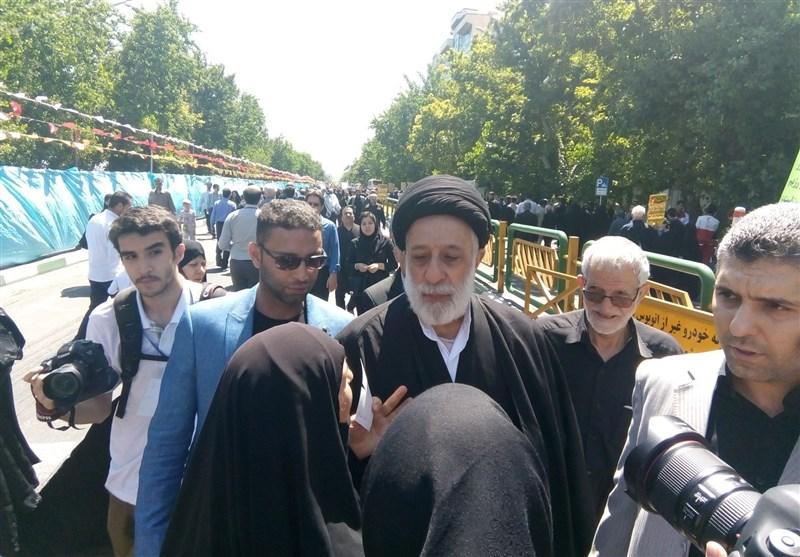 روز قدس پرشور| حضور هادی خامنهای در راهپیمایی روز قدس + عکس