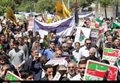 بهمن تماشایی 97  شکوه راهپیمایی 22 بهمن در پایتخت شور و شعور حسینی؛ اعلام انزجار مردم زنجان از سردمداران آمریکا